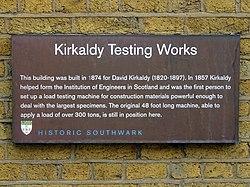 Kirkaldy testing works (historic southwark)
