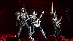 Kiss performing in 2019