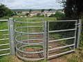 Kissing Gate on Offa's Dyke Path at Buttington Tump - geograph.org.uk - 471164.jpg