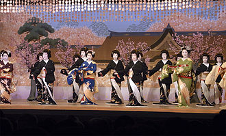 Kamishichiken - Kitano Odori performed in Kamishichiken