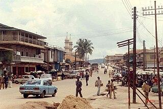 Koidu Place in Eastern Province, Sierra Leone