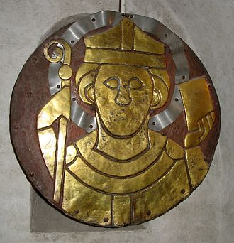 Conrad of Constance - Copper plate showing Saint Conrad.  From the crypt of Cathedral of Konstanz.