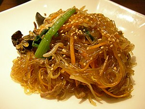 Cellophane noodles - Japchae from Korea