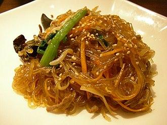 Cellophane noodles - Japchae from Korea