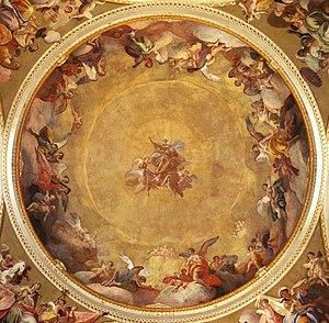 Joseph Ignatz Sadler - fresco The Adoration of God the Father by Joseph Ignatz Sadler, Most Holy Trinity Church, Fulnek