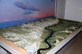 Kostyonki-Borshchyovo archaeological complex - Kostyonki terrain model