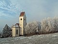 Kraftisried - Kirche v NO, Raureif 01.JPG