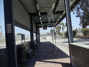 LA County+USC Medical Center station - Westbound platform.