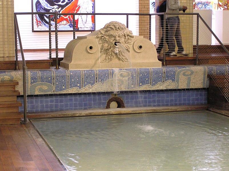 """The pool area of the Musée d'art et d'industrie (""""La Piscine"""") in Roubaix, France."""