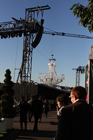 Opera Australia - Stage of the inaugural Handa Opera on Sydney Harbour.