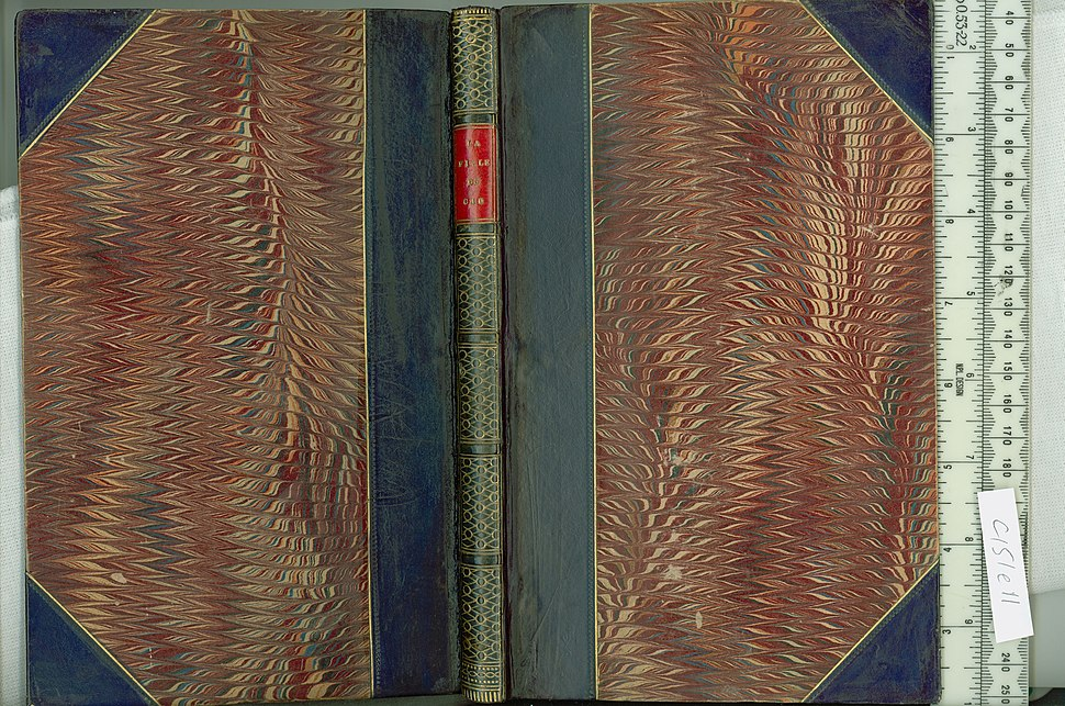 La fille du Cid - Upper and lower cover and spine (c151e11)