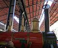 La riproduzione fedele della Bayard, il treno inaugurale della prima tratta ferroviaria Napoli Portici del 1839.JPG
