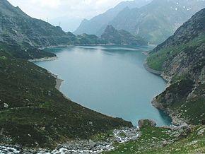Il lago artificiale del Barbellino