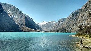 Huascarán National Park - One of the Llanganuco Lakes, inside the park.