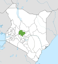 Location of Laikipia County (Green)