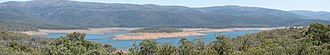Adaminaby - The creation of Lake Eucumbene made it necessary to re-locate the original town of Adaminaby.