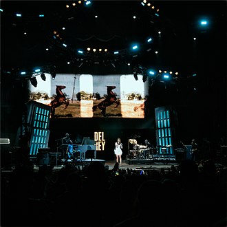 The Endless Summer Tour - Del Rey performing at The Gorge Amphitheatre.