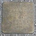 Landshut Stolperstein Wittmann, Luise Lotte.jpg