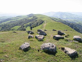 Las Trampas Regional Wilderness - Image: Las Trampas lookingsouthalong Rocky Ridge
