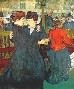 250px Lautrec at the moulin rouge two women waltzing 1892