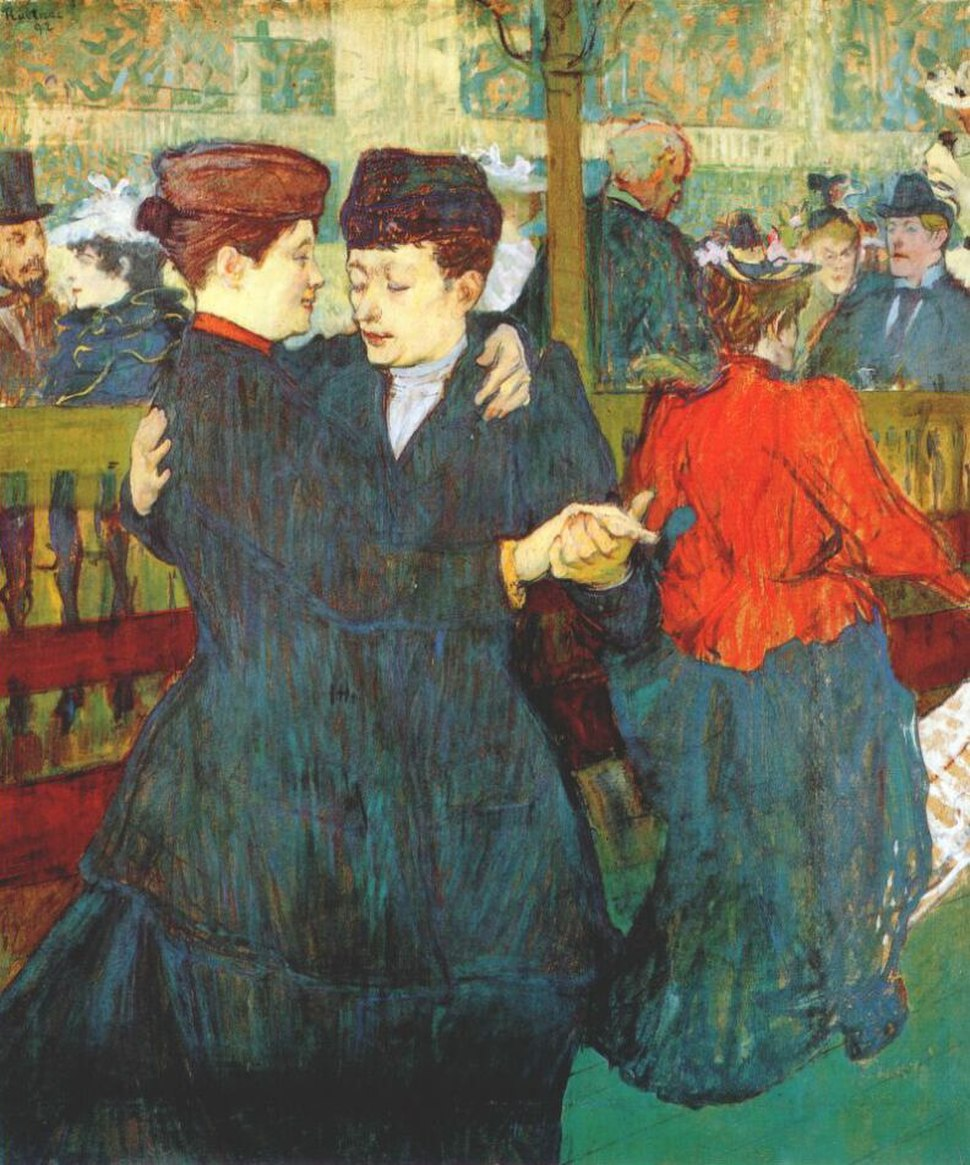 Lautrec at the moulin rouge two women waltzing 1892