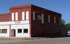 National Register of Historic Places listings in Nuckolls County, Nebraska - Image: Lawrence, Nebraska Opera House from NE 1