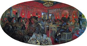 The Grand Teddy tea-rooms paintings - Le Grand Teddy (1918) by Edouard Vuillard