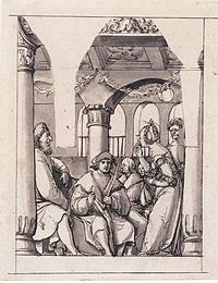 Leaina Before the Judges, by Hans Holbein the Younger.jpg