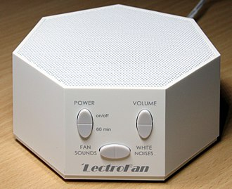 White noise machine - A LectroFan white noise machine