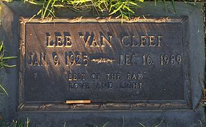Lee Van Cleef - Grave of Lee Van Cleef, at Forest Lawn Hollywood Hills