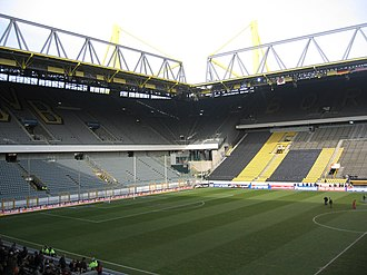 Westfalenstadion - Westfalenstadion seen from inside.