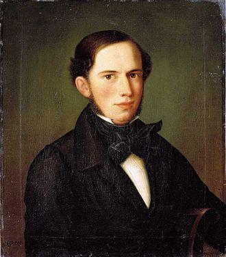 Johan Sebastian Welhaven - Welhaven, by Carl Peter Lehmann; Oslo Bymuseum.