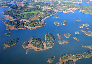 Geography of Finland - An aerial photograph of Naantali Archipelago, Archipelago Sea