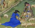 Les Très Riches Heures du duc de Berry juillet sheep shearing.jpg