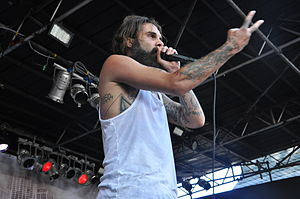 Letlive - Lead vocalist Jason Butler performing at 2014's Summerblast Festival