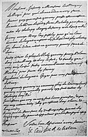 Letter of Richelieu to Claude de Razilly asking him to do everyhting in his power to relieve Re Island July 1627.jpg