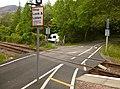 Level crossing, Achnashellach Station (geograph 5113140).jpg