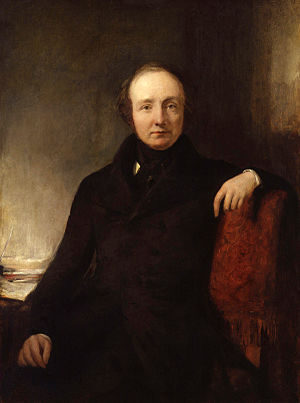 Lewis Cubitt - Portrait of Lewis Cubitt by William Boxall, 1845