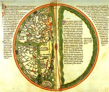 World map from Liber Floridus