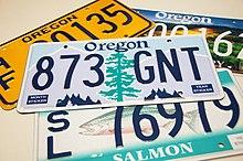 Vehicle registration plates of Oregon - Wikipedia