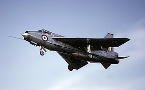 Tengah Air Base - An English Electric Lightning F.3 similar to those operated by 74 Squadron from Tengah