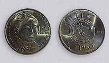 Limited Edition One Philippine Peso Coin showing José Rizal.jpg