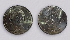 Limited Edition One Philippine Peso Coin showing José Rizal
