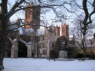 Lincoln Cathedral Lincoln Cathedral in Snow.JPG