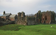 Lindisfarne Abbey and St Marys.JPG