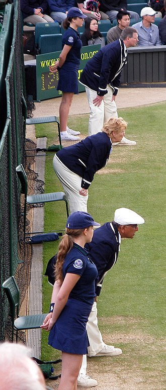 Glossary of tennis terms - Image: Line Judges Centre Court