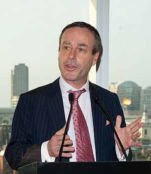Lionel Barber - Barber speaking at the Financial Times 125th anniversary party in London, June 2013