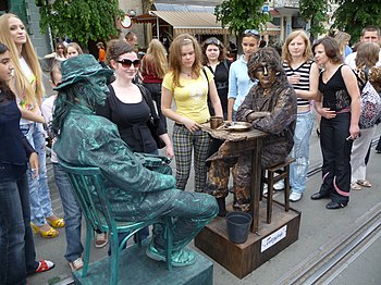 "English: Living statues, performance art ""..."