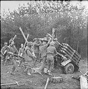 Loading British rockets Reichswald 08-02-1945 IWM BU 1756
