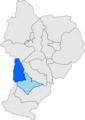 Localització de Llessui respecte de Sort.png